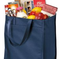 Extra Wide Polypropylene Grocery Tote Thumbnail